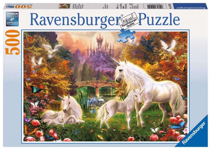 Puzzle 500 Teile Zauberhafte Einhörner