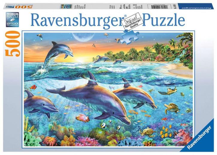 Puzzle 500 Teile Bucht der Delfine