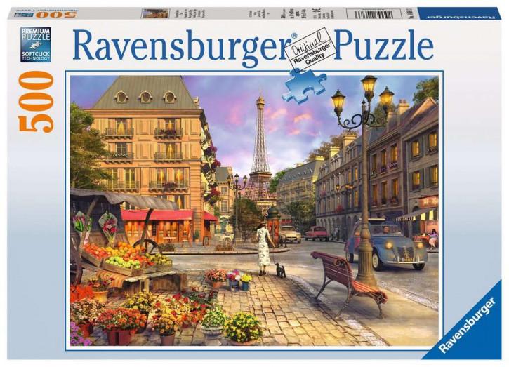 Puzzle 500 Teile Spaziergang durch Paris