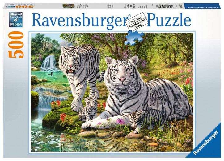 Puzzle 500 Teile Weiße Raubkatze