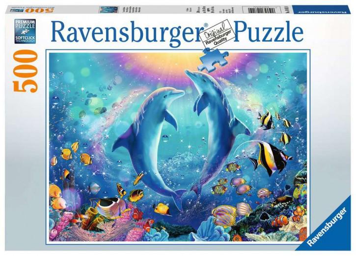Puzzle 500 Teile Tanz der Delphine