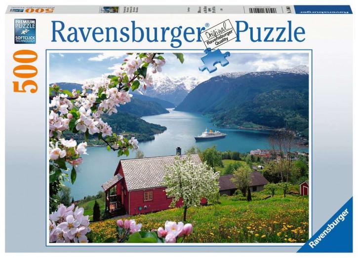 Puzzle 500 Teile Skandinavische Idylle