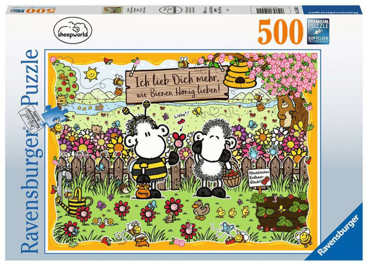 Puzzle 500 Teile Sheepworld Bienenliebe
