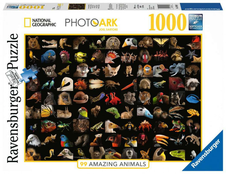 Puzzle 1000 Teile 99 atemberaubende Tiere