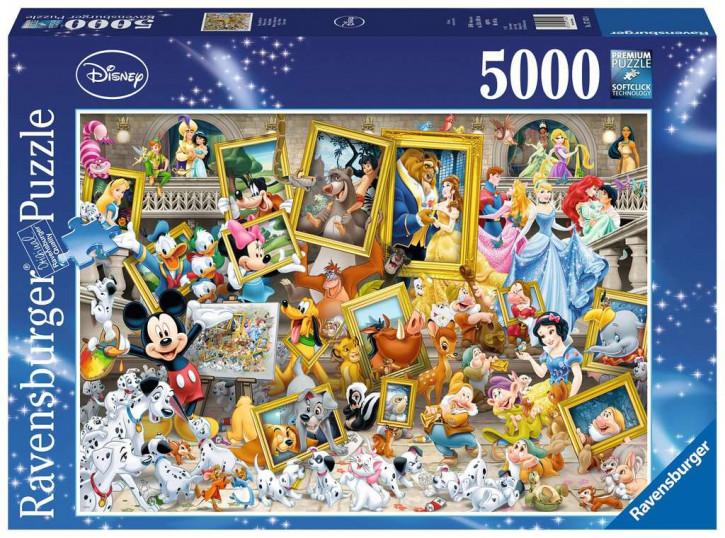 Puzzle 5000 Teile Micky als Künstler
