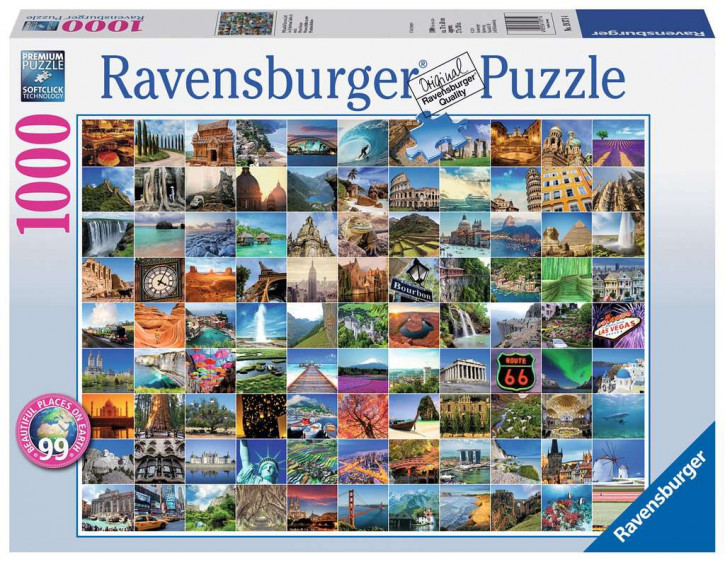 Puzzle 1000 Teile 99 Beautiful Places on Earth