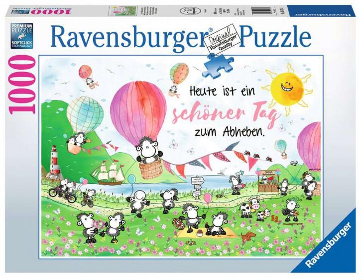 Puzzle 1000 Teile sheepw:Schöner Tag zum Ab.