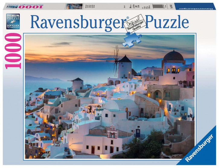 Puzzle 1000 Teile Abend in Santorini