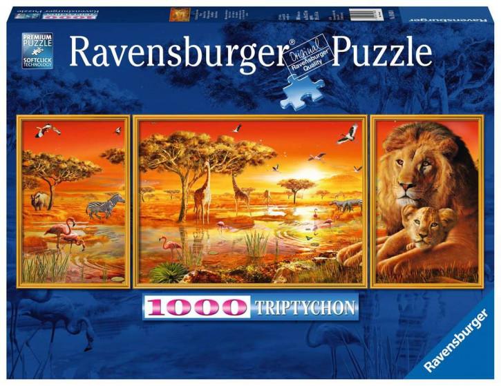 Puzzle 1000 Teile Afrikanische Impressionen