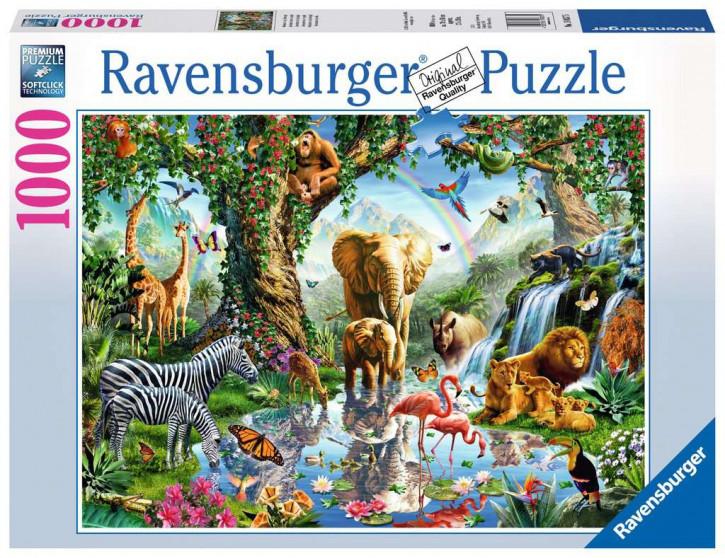 Puzzle 1000 Teile Abenteuer im Dschungel