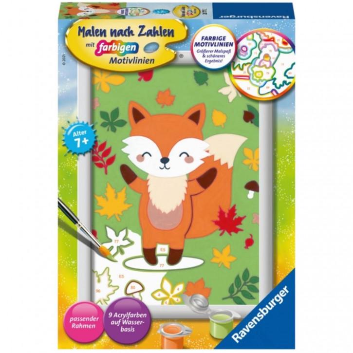 Malen nach Zahlen 7+ - Süßer Fuchs