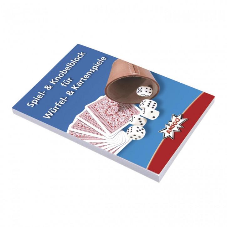 Spiel- & Knobelblock für Würfel- & Kartenspiele