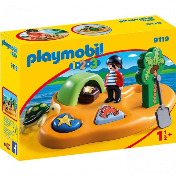 Playmobil 1-2-3 Pirateninsel 9119