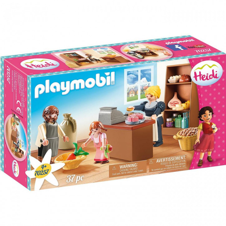 Playmobil Heidi Dorfladen der Familie Keller 70257
