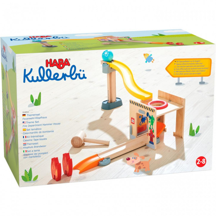 Kullerbü – Themenset Feuerwehr-Klopfhaus