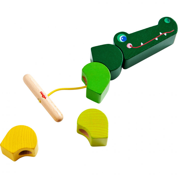 Fädelspiel Kroko