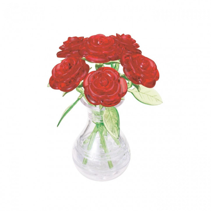 Crystal Puzzle - Rote Rosen (47 Teile)