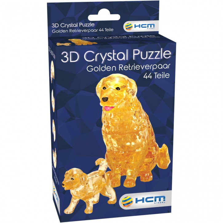 Crystal Puzzle - Golden Retriever Paar (44 Teile)