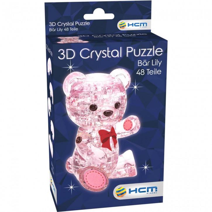 Crystal Puzzle - Bär Lily Rosa (48 Teile)