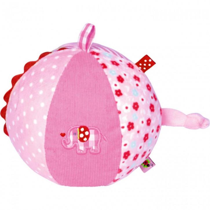 Stoffball mit Glockenspiel BabyGlück, rosa