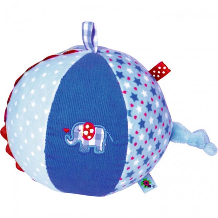Stoffball mit Glockenspiel BabyGlück, hellblau