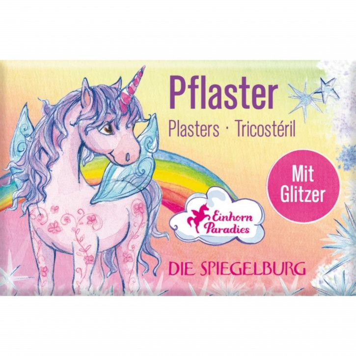 Pflasterstrips mit GlitzerEinhorn-Paradi