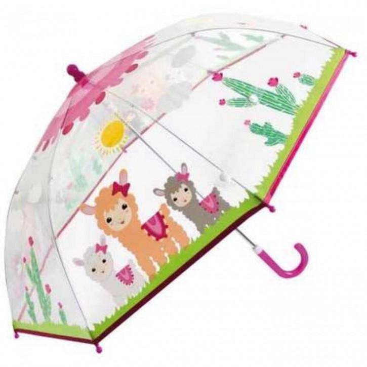 Regenschirm transparent Lama
