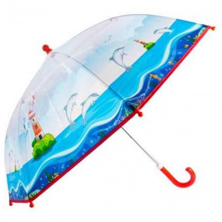 Regenschirm transparent Delphin