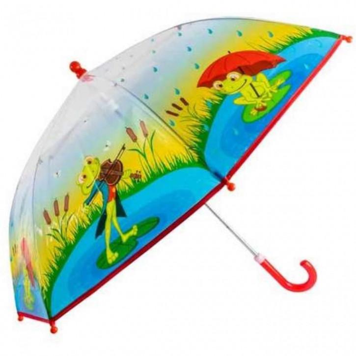 Regenschirm transparent Frösche