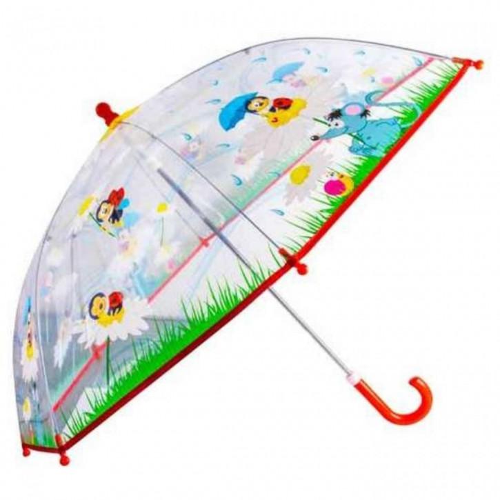 Regenschirm transparent Marienkäfer und Maus