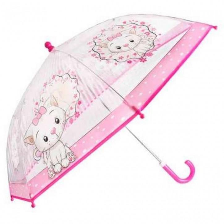 Regenschirm transparent Kätzchen