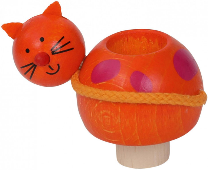 Kerzenhalter Katze aus Holz