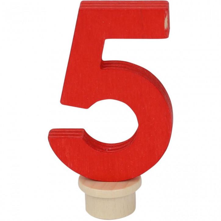 Geburtstagszahl 5 aus Holz