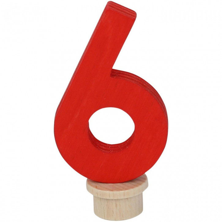 Geburtstagszahl 6 aus Holz