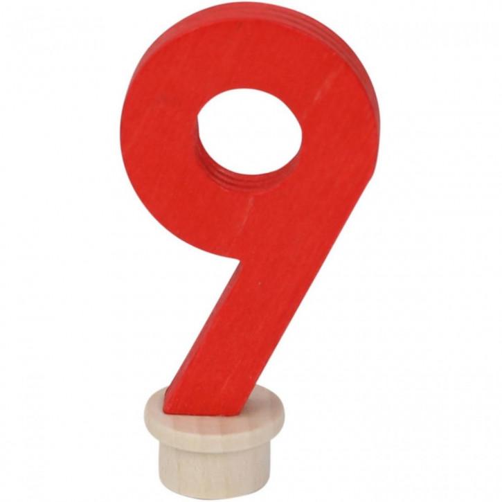 Geburtstagszahl 9 aus Holz