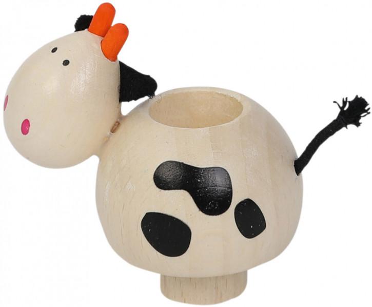Kerzenhalter Kuh aus Holz
