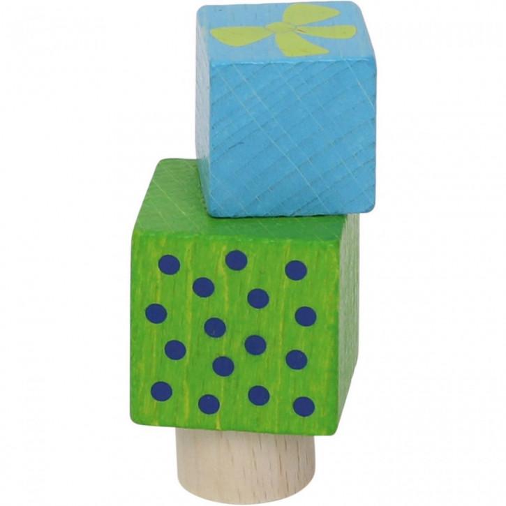 Stecker Päckchenstapel blau / grün