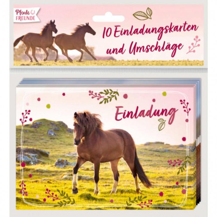 Einladungskarten Pferdefreunde - Einladung (10 Ex.)