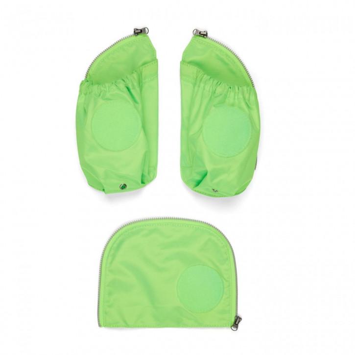 ergobag Zip-Set Seitentaschen Grün