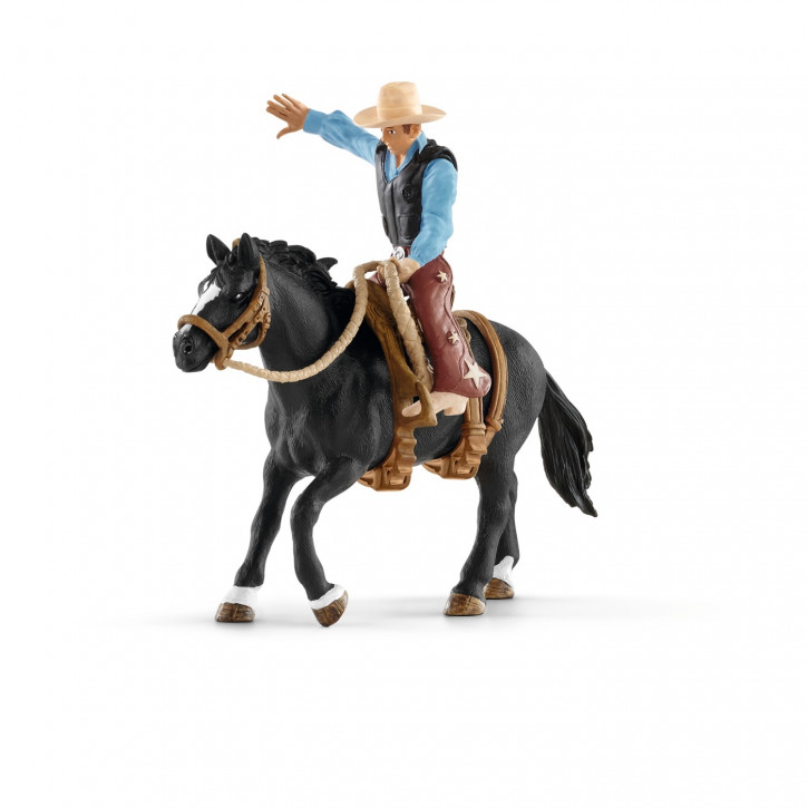 Schleich Saddle bronc riding mit Cowboy
