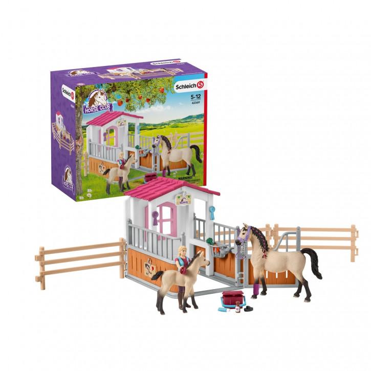 Schleich Pferdebox mit Arabern und Pferd
