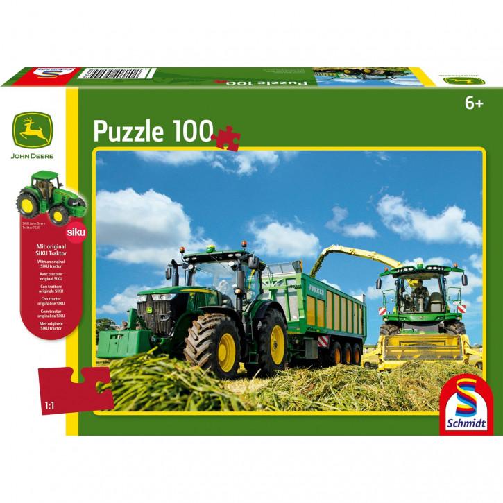 Puzzle 100 7310R Traktor mit 8600i Feldhäksler