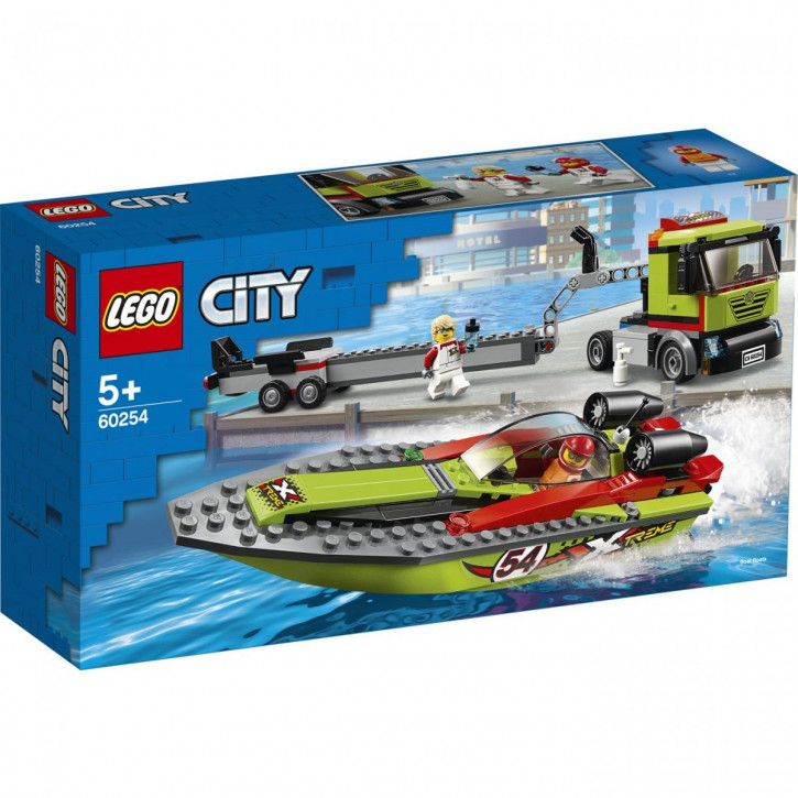 LEGO® City Great Vehicles Rennboot-Transporter