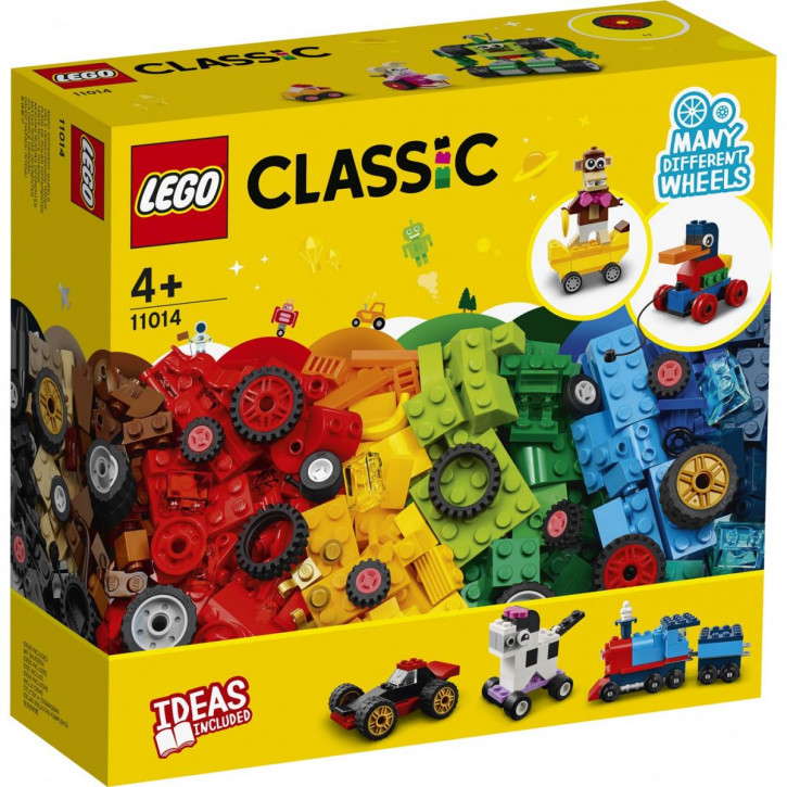 Lego Classic Steinebox mit Rädern