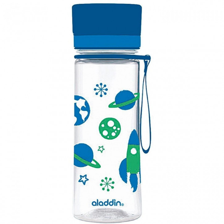 ALADDIN Wasserflasche Aveo mit Grafik 0,35l blau