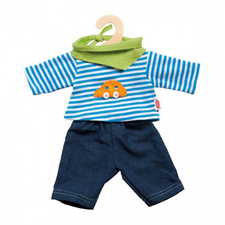 Puppen-Jeans mit Streifenshirt, Gr. 35-45 cm