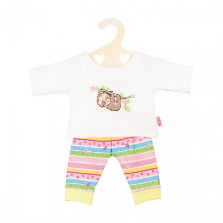 Puppen-Pyjama Faultier Flauschi, Gr. 28-35 cm